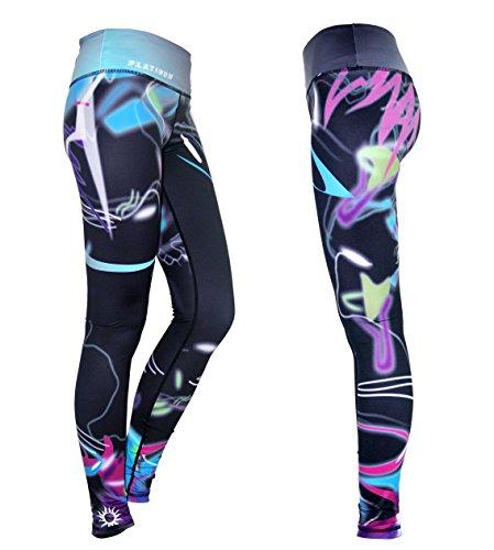 Platinum Sun Printed Sport Leggings Tights for Women - Mystica - S