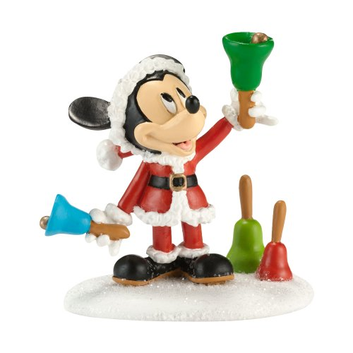 Department 56 Disney Village Ringing in The Holidays Figurine, 2.375-Inch