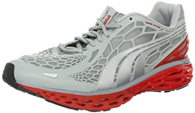 PUMA Men's BioWeb Elite Running Shoe,High Rise Heather/Puma Silver, 7.5 M US