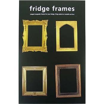 Cheap!! Elegant Gold Color Refrigerator Magnet Frames Set 1 of Four ...
