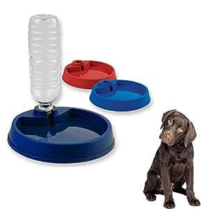 Pet supplies plastic dog food bowl pet feeder dish water for Automatic fish feeder walmart