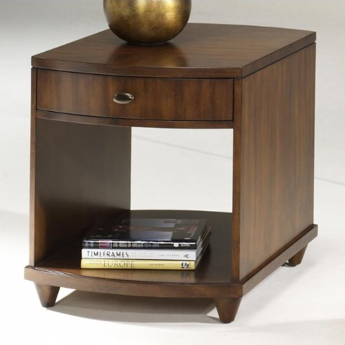 Cheap Hammary T2002821-00 Luna Rectangular Drawer End Table in Dark Brass (T2002821-00)