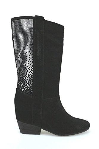 Scarpe donna JANET & JANET stivali nero camoscio AJ453 (37 EU)