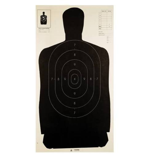 Champion LE B27 Black Police Silhouette Target (Pack of 100) (Shooting Targets 24x45 compare prices)
