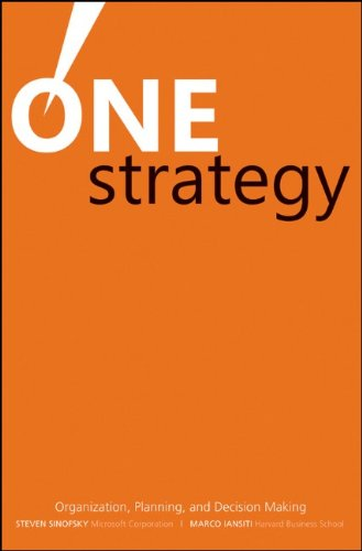One Strategy: Organization, Planning, and Decision Making: Steven