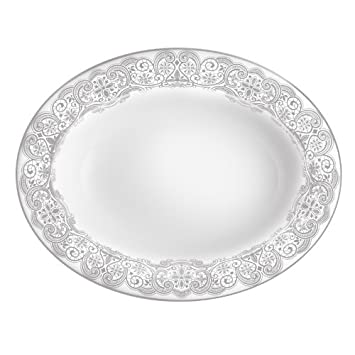 WATERFORD Lismore Lace Platinum Oval vegetable dish