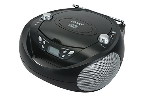 CD-Player USB MP3-Player Kinder Stereoanlage tragbar Radio AUX Denver TCU-205 schwarz