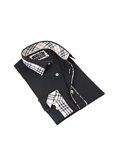 Dolce Guava Men's Solid Contrast Dress Shirt