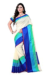 Amigos Fashion Women's Tassar Silk Saree (AF-17)