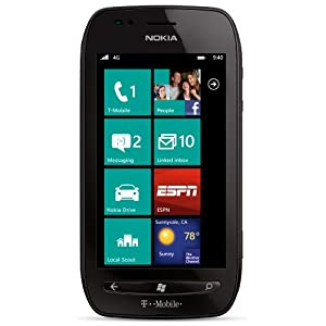 Nokia lumia 710 black 8gb t mobile cell for Window 4g phone