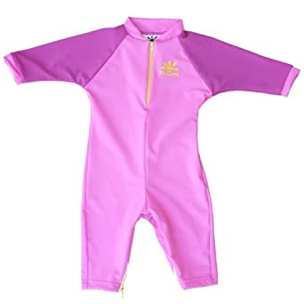 Madison Sun Protective Baby Suit by NoZone in Bahama/Fuschia, 0-6 months
