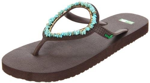 Sanuk Women's Ibiza Gypsy Flip Flop Sandal,Turquoise,9 M US