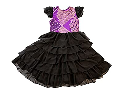 Z By Ozi Girl's African Print Ankara Ruffle Dress