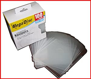 Megadisc Cd / DVD Plastic Keepers Clear 500 Pk (Memorex Similar Quality)