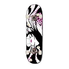 Buy RazorX Girl's Daisy Skateboard (Black White, Small) by RazorX