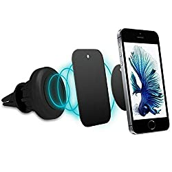 Magnetic Car Mount, E LV Universal Rotating Car Mount Phone Holder, Premium Quality Portable Air Vent Mount Mobile stand For iPhone,Samsung and Other Smartphones - BLACK