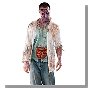 Inspired by The Walking Dead Adult Zombie Doctor Costume , Multicolored, Standard