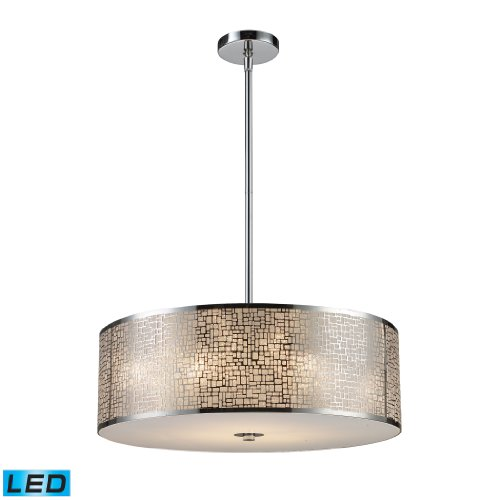 Medina 5-Light Pendant In Polished Stainless Steel - Led, 800 Lumens (4000 Lumens Total) With Full Scale Dimming Range, 60 Watt (300 Watt Total)Equivalent , 120V Replaceable Led Bulb Included