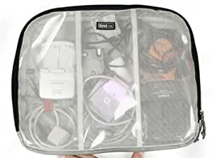 Think Tank Cable Management 50, Clear Organizer Pouch with Internal Dividers for AC Adapters, USB Cables & other Photography Essentials.