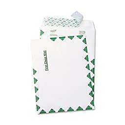 Quality Park R1330 Tyvek Usps First Class Mailer, Side Seam, 6 X 9, White, 100/box