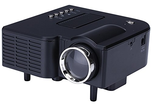 """60"""" Multimedia Portable Mini Hd Led Projector Cinema Theater,support Pc Laptop HDMI VGA Input and SD USB AV Input for Iphone Galaxy Laptop Mac with Remote Control ,Only for Home,Idea for Child Gifts"""