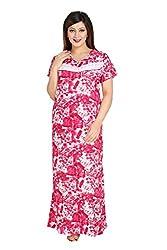 Vimal Fashion Cotton Multi Colour Printed Night Wear / Nightgown / Women Sleepwear / Womans Pyjamas (VF036)