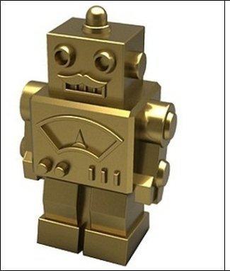 Monopoly Klassik Limited Edition: Goldene Roboter-Spielfigur