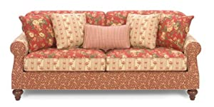 Carolines Cottage Country Red Sofa from Craftmaster