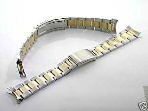 Oyster Watch Band Submariner Gold/ss for Rolex 20mm Heavy