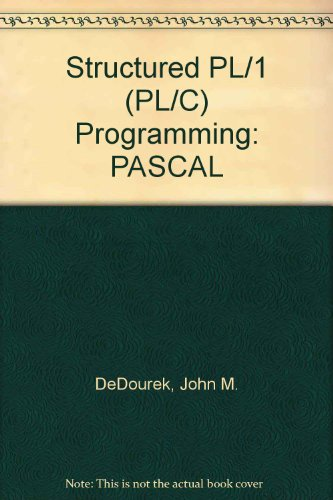 Structured Pl One (Pl-C Programming) PDF