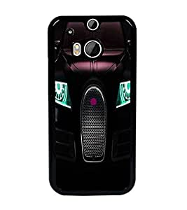PrintDhaba Car Front D-3313 Back Case Cover for HTC ONE M8 EYE (Multi-Coloured)