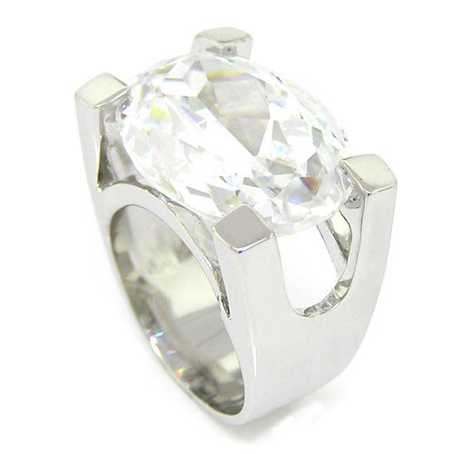 Irresistible Modern Promise Sterling Silver Ring w/White Topaz CZ Size 10