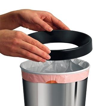 Durable 331623 Corbeille /à papier M/étal demi-cercle 20L Argent
