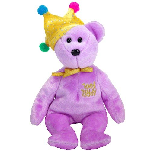 TY Beanie Baby - JOKESTER the Bear (Internet Exclusive)