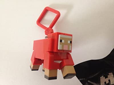 Official Minecraft Exclusive Mooshroom Toy Action Figure Hanger from Jinx