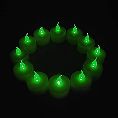 12-Packs LED Plastic Tea Tealight Candles Lamp Flameless Shine Anniversary Wedding Party Restaurant Atmosphere Decoration Battery Operated
