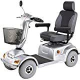 Heavy Duty Road Class Four Wheel Scooter, Silver with White Glove Service