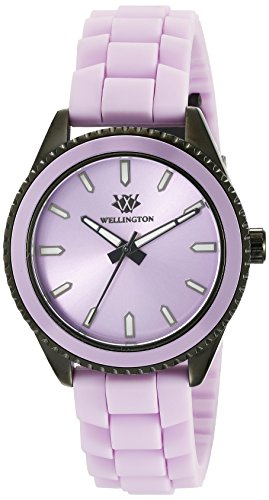 Wellington Karamea Women's Quartz Watch with Purple Dial Analogue Display and Purple Silicone Strap WN508-690B