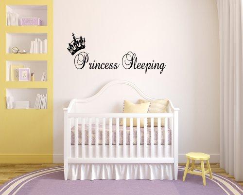 Princess Sleeping Wall Sticker Girls Bedroom front-1024940