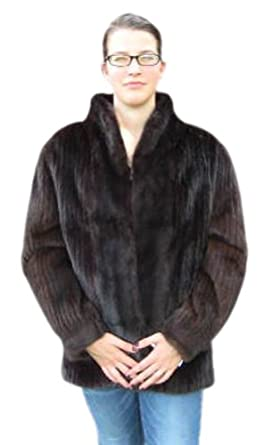Bergama Natural Mahogany Mink Corduroy Jacket - Medium - Brown