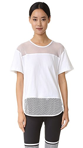 adidas by Stella McCartney Women's Essentials Mesh Tee, White, X-Small