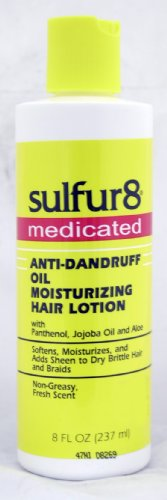 Sulfur 8 Medicated Anti-Dandruff Oil Moisturizing Hair Lotion 8 oz (Medicated Hair Grease compare prices)