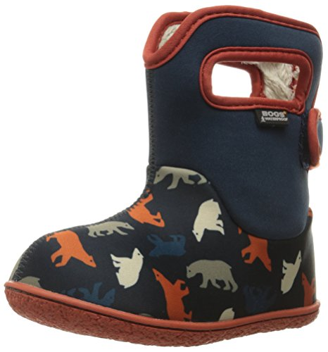 Bogs Baby Classic Polar Bear Winter Snow Boot (Toddler), Dark Blue/Multi, 8 M US Toddler
