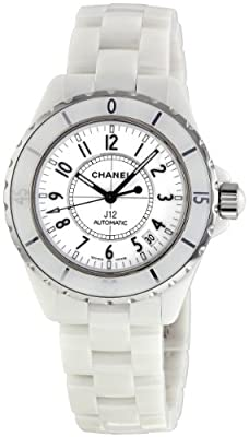 Chanel Women's H0970 J12 White Ceramic Bracelet Watch