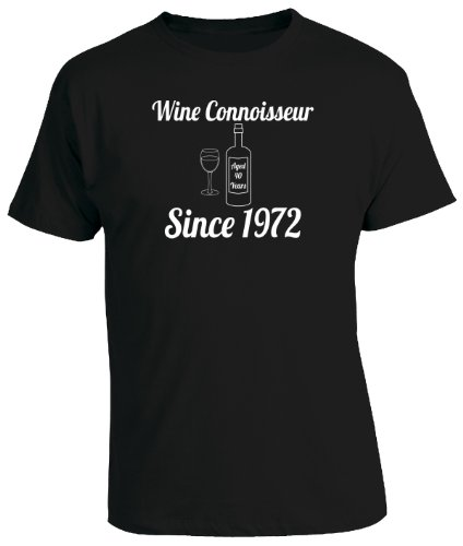 WINE CONNOISSEUR SINCE YEAR 1973 - 40th Birthday Gift / Present Mens T-Shirt