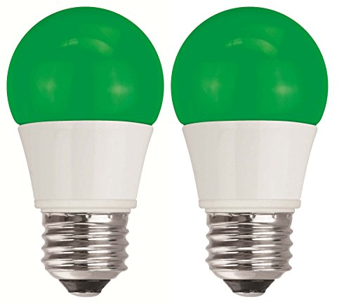 TCP 40 Watt Equivalent 2-pack, Green LED A15 Regular Shaped Light Bulbs, Non-Dimmable RLAS155WGR236 (Cheap Edge Control compare prices)