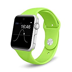 Bingo T50 S Neon Green with 360-degree arc HD Screen With Voice Control Smartwatch Supports Bluetooth, Android & IOS System wtih Extra USB LED Free