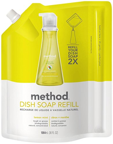 Method Dish Soap Pump Refill - 36 oz - Lemon Mint (Method Dish Detergent Refill compare prices)