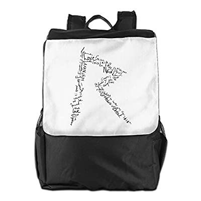 Rihanna Logo Backpack Knapsack Rucksack Travel Hiking Shoulder Bag Daypacks Packsack Rucksack Fits Up To 15 Inch Laptop