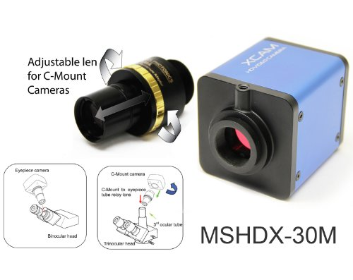 Bigcatchusa Hdmi Eyepiece & C-Mount Microscope Camera High Definition 720P With Image Capture Shdx-30M